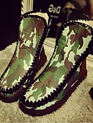 Zapatos de mujer - Tacón Plano - Botas de Nieve - Botas - Casual - Vellón - Negro / Rosa / Rojo
