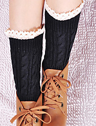 Women's Winter Gaiters Short Warm Lace Twist Leg Warmers