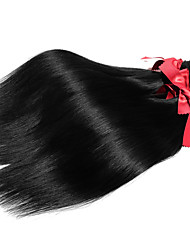 Malaysia Silky Straight Hair Extensions 1pcs #1B Human Hair Weaves 50g/pcs Remy Hair Wefts