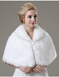Wedding  Wraps / Fur Wraps Capelets Sleeveless Faux Fur Ivory Wedding / Party/Evening / Casual Clasp