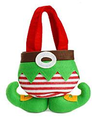 vendita modo caldo di natale della Santa pantaloni elfo borse spirito caramelle decorazione di natale sacco carino regalo del bambino