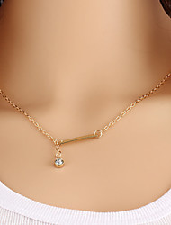 Wholesale Women Necklace European Style Rhinestone Layered Chain Necklace
