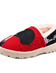 Zapatos de mujer - Tacón Plano - Botas de Nieve - Botas - Exterior / Casual - Vellón - Negro / Rosa / Rojo