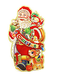 Christmas Decorations Old Man Window Sticker Contemporary , Art Deco M:35*20cm,L:45*24cm,XL:50*30cm,XXL:73*40cm,