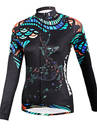 ilpaladinoSport Women Long sleeve Cycling Jersey New Style    CX601  Black Reindeer  100% Polyester