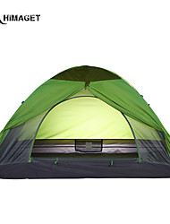 HIMAGET Brand High Quality Double Layer 3 Person Camping Garden Small Family Tent With  Fiberglass Pole
