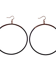 Simple Style Great Circle  Stoving Varnish Earrings