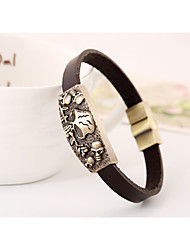 European and American fashion jewelry vintage leather bracelets leather jewelry(bracelet)