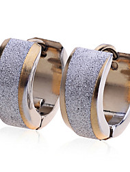 Earring Stud Earrings Jewelry Women Party / Daily / Casual Stainless Steel / Gold Plated 2pcs