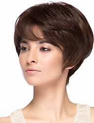 Beautiful Carefree Virgin Remy Human Hair Hand Tied -Top Capless Short Straight Wig