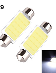 YOBO 3W 350-380LM Festoon 39MM 1D COB LED Light for Car Steering Light Bulb / Reading Lamp - (2 PCS /DC 12V)