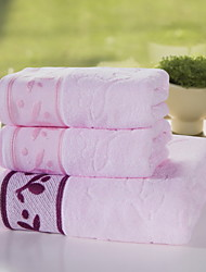 Ensemble de serviette de bain Beige Bleu Rose,Jacquard Haute qualité 100% Coton Serviette