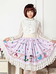 Lavender Alice Lolita  Skirt Lovely Cosplay