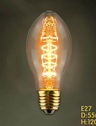 E27 40W  C55 Edison Bulbs Restaurant Edison Wedding Bullet Mall Store Decorative Lamp Tungsten Bar