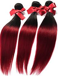 Омбре Малазийские волосы Прямые 12 месяцев 1 шт. волосы ткет