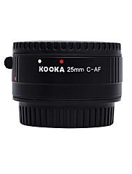 kooka kk-c25p nilon plástico macro af tubo de extensión de 25 mm de Canon EF&cámaras SLR ef-s
