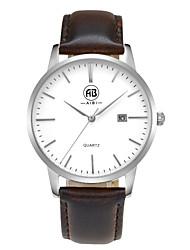 AIBI® Men's Fashion Watch Calendar Water Resistant Fabio Miami Silver Brown Watch Gift For Men Wrist Watch Cool Watch Unique Watch With Watch Box