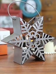 europeu decorativo estrela estilo retro natal ferro castiçal oco decoração do bar para casa
