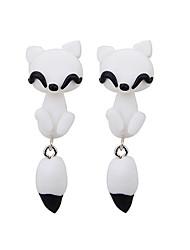 Forme d'Animal Boucles d'oreille goujon Bijoux Femme Quotidien Décontracté Silicone 2pcs Blanc