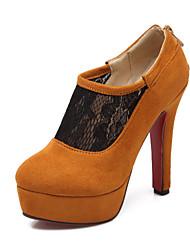 Chaussures Femme - Décontracté - Noir / Jaune / Rouge - Gros Talon - Talons - Talons - Similicuir