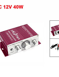 Car  Aluminum Mini Hifi Stereo Audio Power Amplifier 40W