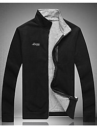 Men's Long Sleeve Jacket , Cotton Blend / Others Casual / Sport Pure