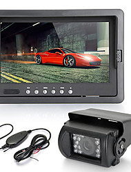 "7"" TFT LCD Car Rearview Monitor IR Reversing Backup 18 LED Night Version Camera"