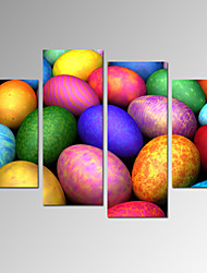 VISUAL STAR®Colorful Lucky Eggs Photo Giclee Print on Canvas Ready to Hang