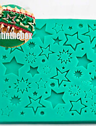Star Texture Grain Printing Baking DIY Silicone Chocolate Sugar Cake Mold