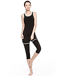 Running Tank / Clothing Sets/Suits Women's Sleeveless Breathable / Quick Dry / Compression / Lightweight Materials Terylene Yoga Sports