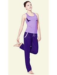 Yoga Clothing Sets/Suits Pants + TopsHigh Breathability (>15,001g) / Sweat-wicking / Soft / Held-In Sensation