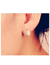 Bohemia Vintage Wholesale Women Opal Heart Stud Earring