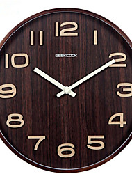 Elegant Creative Bent Vertical Letters in Stock OEM Provided Extra-large Wooden Wall Clock 14 Inch