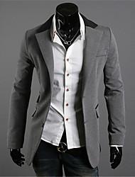 Men's Pan Collar Coats & Jackets , Cotton Long Sleeve Casual / Party Fashion Winter / Fall Jiya