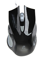JEQANG JM-1989 800/1200/1800/2000DPI Professional 7 Colour Dazzle Light Gaming Optical Mouse - Black
