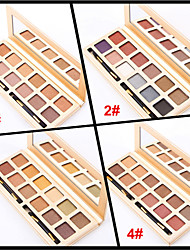 12 Colors Eyeshadow Palette Naked Nude Makeup Eye Shadow Brush Glitter Shimmer Makeup Set(Assorted Color)