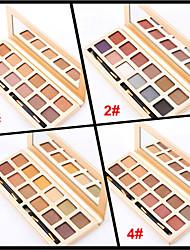 12 Colors Eyeshadow Palette Naked Nude Makeup Eye Shadow Brush Glitter Shimmer Makeup Set(Assorted Color)