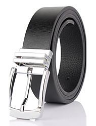 Men Calfskin Waist Belt , Vintage / Cute / Party / Work / Casual Alloy/Men's pin buckle belt 3.3cm width fashion trends