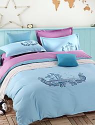 yuxin®advanced borduurwerk katoen viertal eenvoudige Europese versie solide larry kit 1,5-1,8 m bed / 2,0 m bed