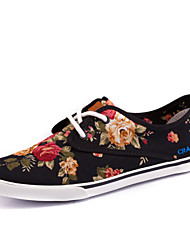 Women's Shoes Fabric Flat Heel  / Comfort / Round Toe Fashion Sneakers Casual Black / Blue / Brown / Pink