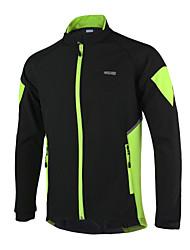 Arsuxeo Cycling Jacket Men's Bike Jacket Jersey TopsThermal / Warm Windproof Anatomic Design Waterproof Zipper Reflective Strips Back