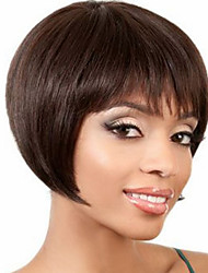 Modern Bob Short Straight Human Virgin Remy Hair Hand Tied Top Capless Wig for Lady