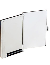 High Quality Stainless Steel Business Name Card Case Holder PU Leather Mirror