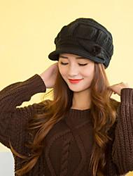 Women Cute Rabbit  Acrylic Brim Skullies Hats LD00068