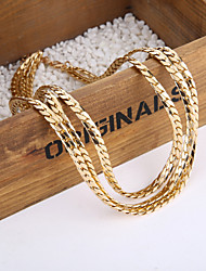 Chic Gold Plated Multi layer Alloy Women Chain Necklace