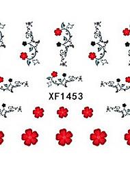 1 PCS 3D Water Transfer Printing Nail Stickers XF1453