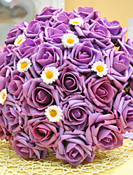 Purple Wedding Bouquet Bride Holding Flowers