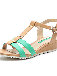Women's Summer Leatherette Casual Wedge Heel Green
