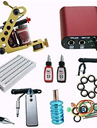 Beginner Tattoo Kit with Machine Gun/ MINI Power Supply/ 10 Needles /2 Ink/ Needle/ Tips/ Grip Pro