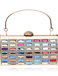 Women Polyester / Metal Minaudiere Clutch / Evening Bag - Multi-color